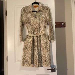 Tory Burch Patterned Blouse Dress Size 10